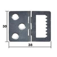Навесы №1428 Зубчатая петля с 3-мя отверстиями