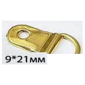 D-кольцо узкое зол 9 мм